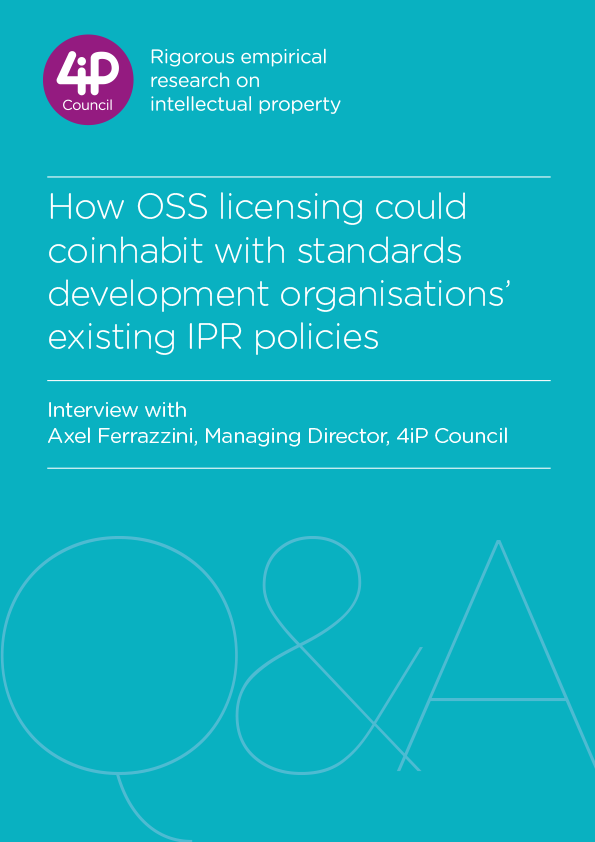 How OSS licensing could coinhabit with standards development organisations' existing IPR policies