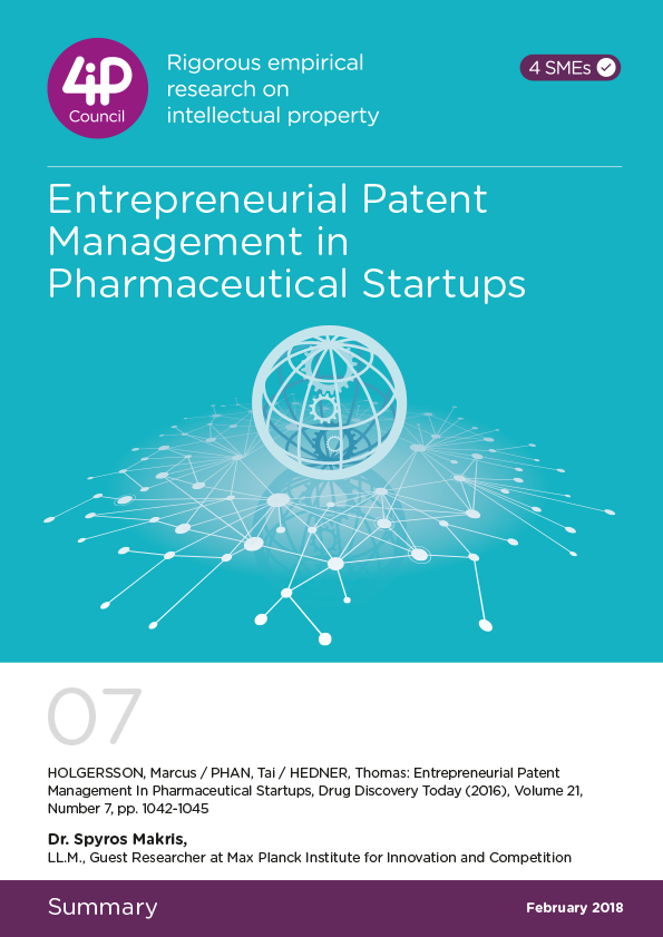 07 - Entrepreneurial Patent Management in Pharmaceutical startups