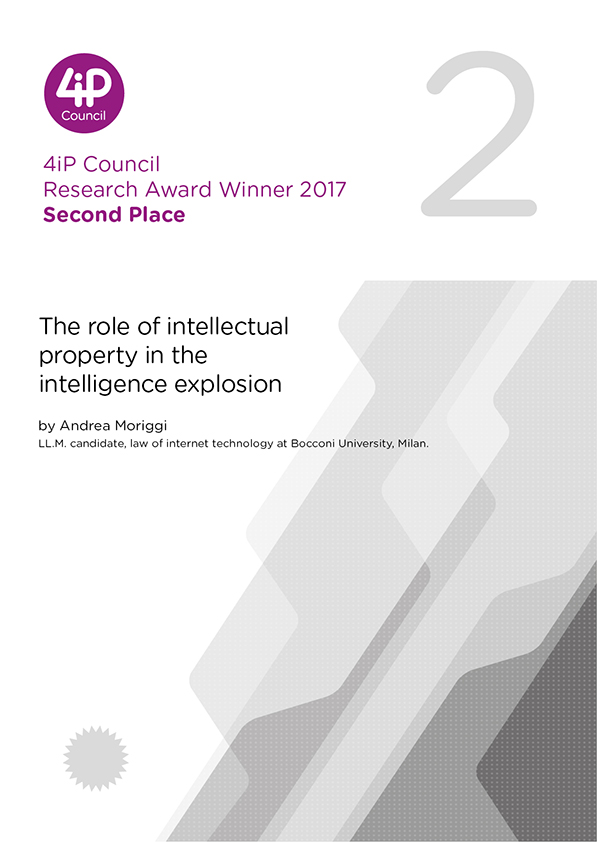 The role of intellectual property in the intelligence explosion