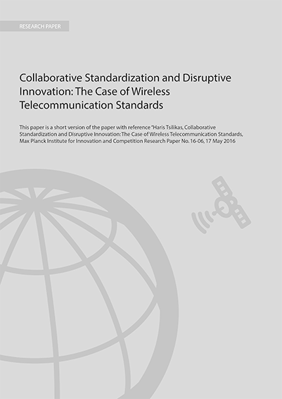 Collaborative standardisation and disruptive innovation: summary paper developed by Haris Tsilikas, Max Plank Institute, for 4iP Council.