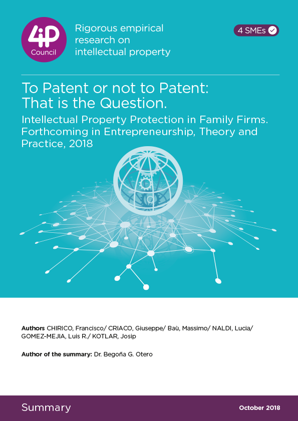 To Patent or not to Patent: That is the Question