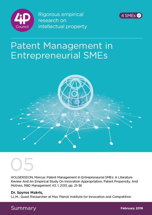 05 - Patent Management in Entrepreneurial SMEs