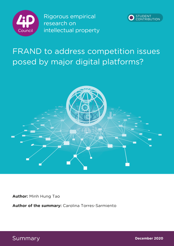 FRAND to address competition issues posed by major digital platforms?