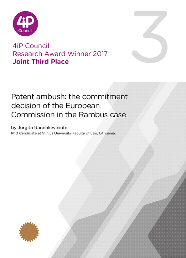 Patent ambush: the commitment decision of the European Commission in the Rambus case