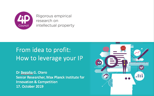 From idea to profit - How to leverage your intellectual property
