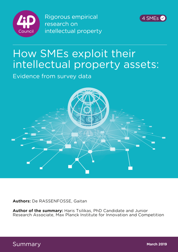 How SMEs exploit their intellectual property assets