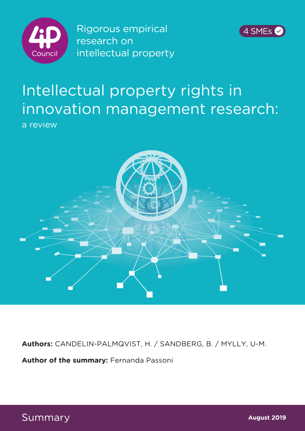 Intellectual property rights in innovation management research: a review.