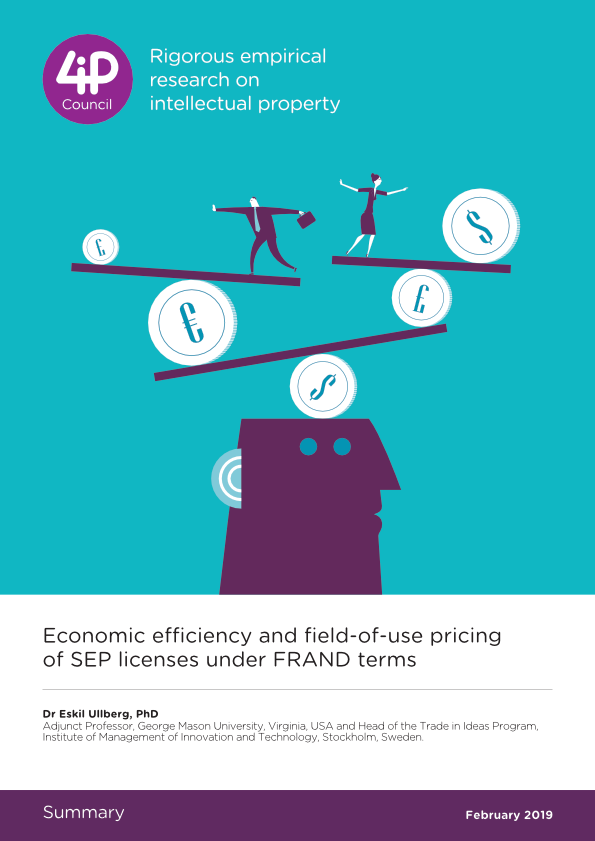 Economic efficiency and field-of-use pricing of SEP licenses under FRAND terms