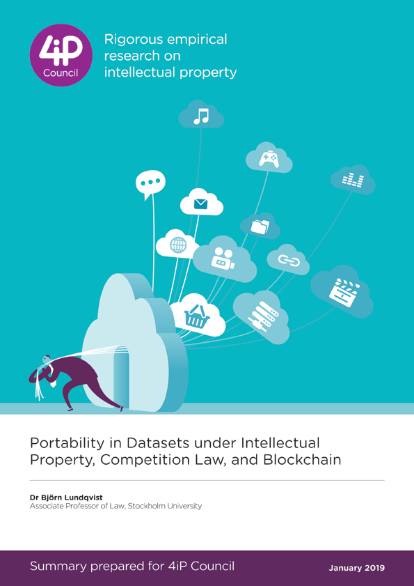 Portability in Datasets under Intellectual Property, Competition Law, and Blockchain