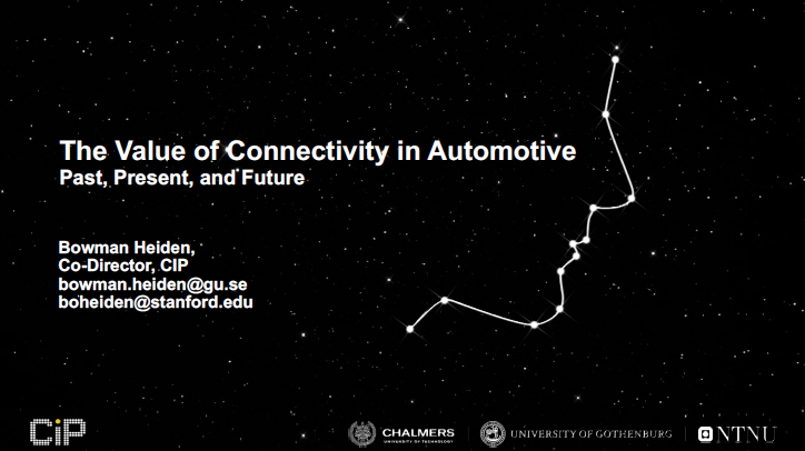 The Value of Connectivity in Automotive - slide set