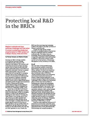 Protecting local R&D in the BRIC's