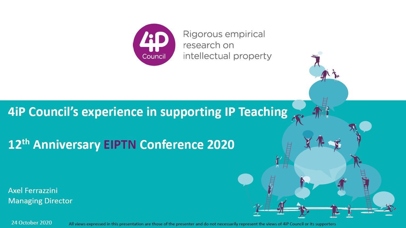 4iP Council's experience in supporting IP Teaching