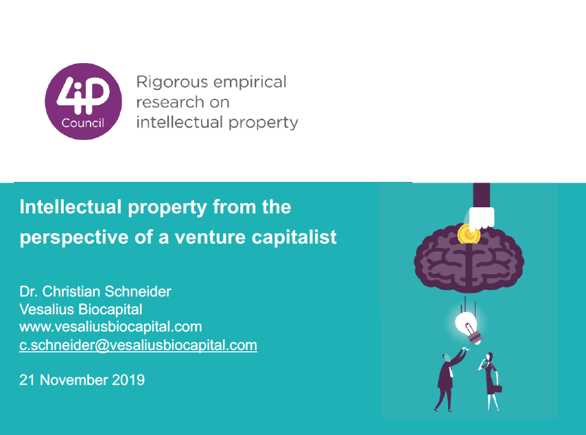 Intellectual property from the perspective of a venture capitalist
