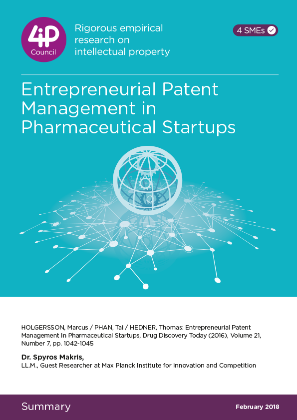 Entrepreneurial Patent Management in Pharmaceutical startups