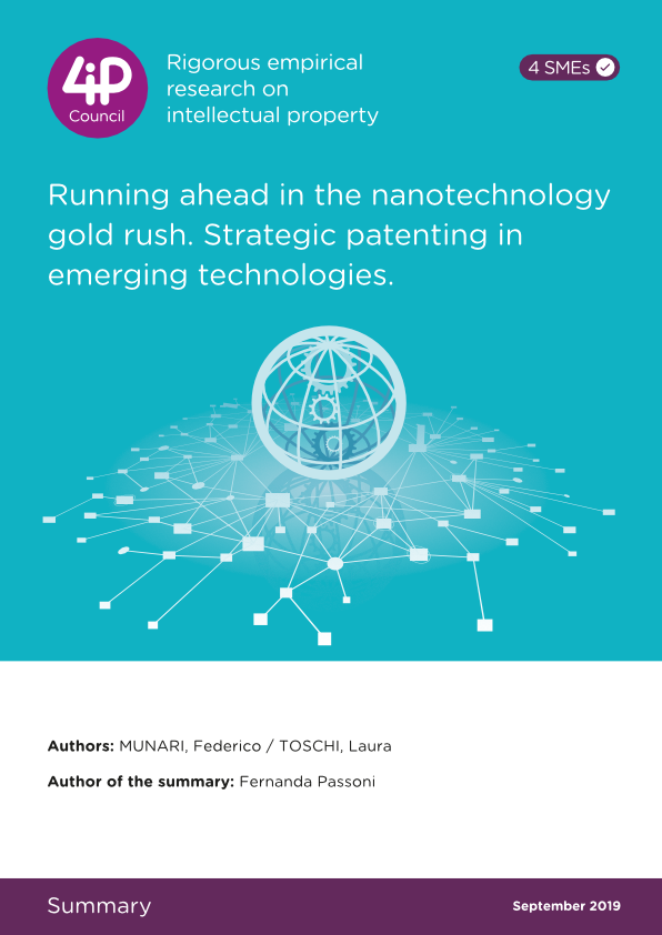 Running ahead in the nanotechnology gold rush. Strategic patenting in emerging technologies.