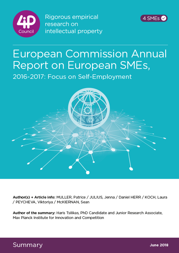 European Commission Annual Report on European SMEs, 2016-2017: Focus on Self-Employment