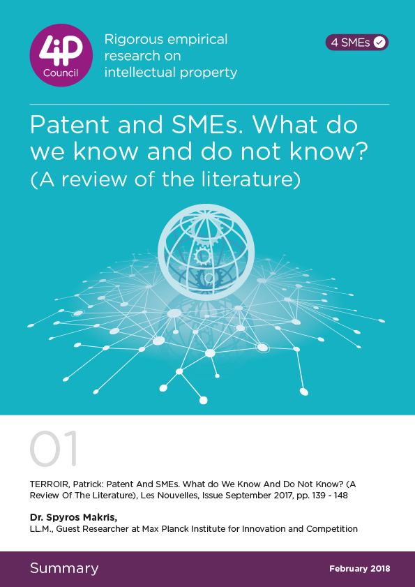 01 - Patent and SMEs. What do we know and do not know?