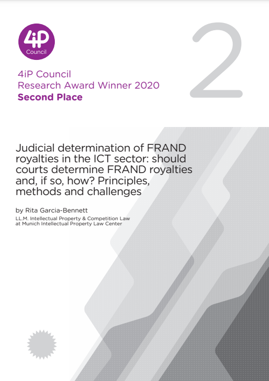 Judicial determination of FRAND royalties in the ICT sector: should courts determine FRAND royalties and, if so, how? Principles, methods and challenges