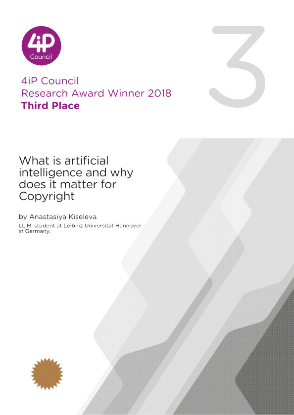 What is artificial intelligence and why does it matter for Copyright
