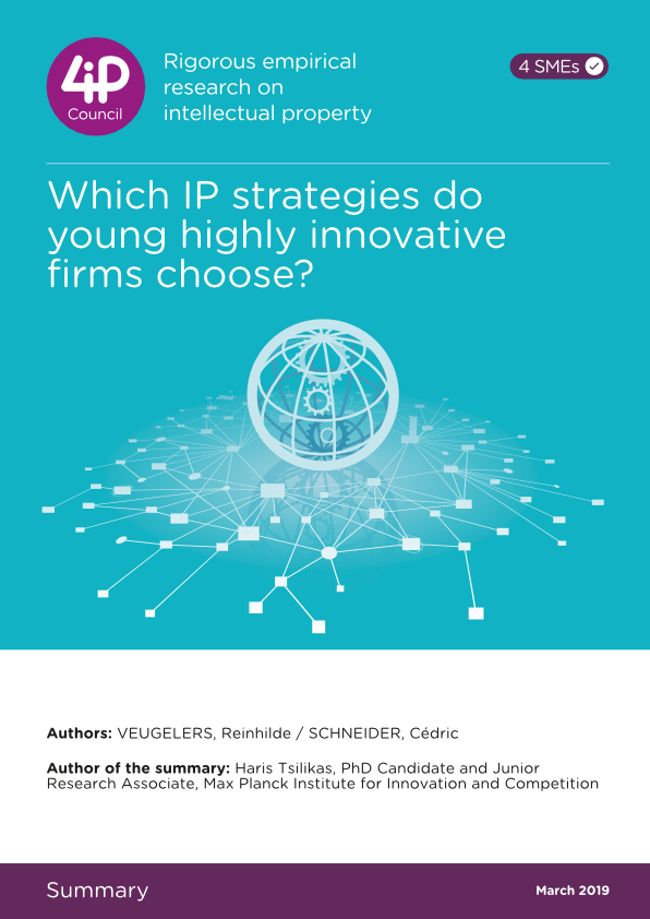 Which IP strategies do young highly innovative firms choose?